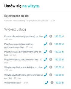 psychiatra, psycholog, psychoterapeuta Kłodzko